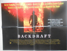 Backdraft, Original UK Quad Poster, Kurt Russell, Robert De Niro, '91